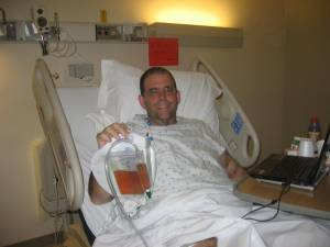 The Happy Transplantee showing off 2 hours worth of pee!